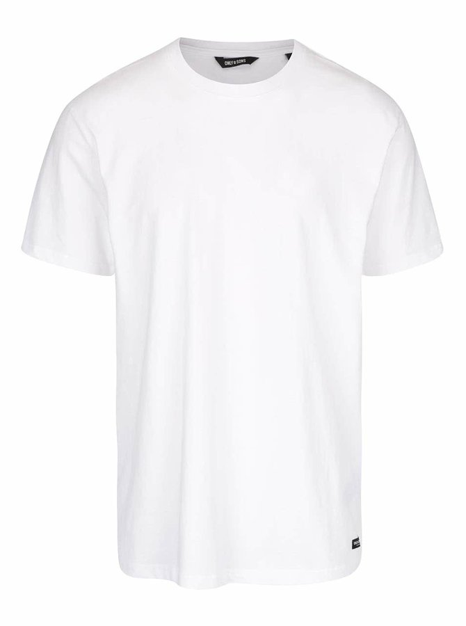 Bílé basic triko ONLY & SONS Eltonn
