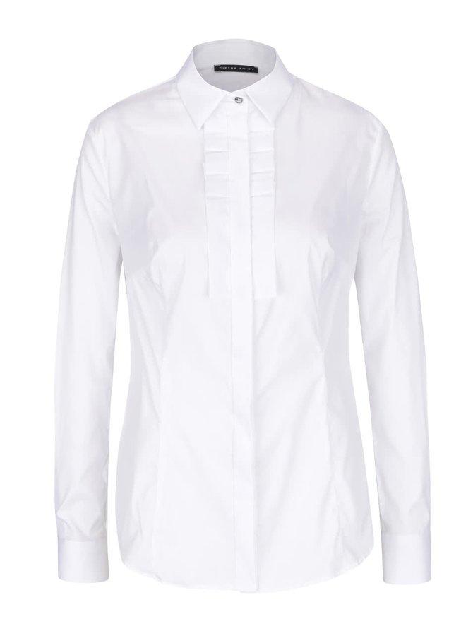 Bílá dámská košile s fiží Pietro Filipi
