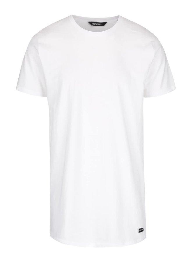 Bílé dlouhé triko ONLY & SONS Long