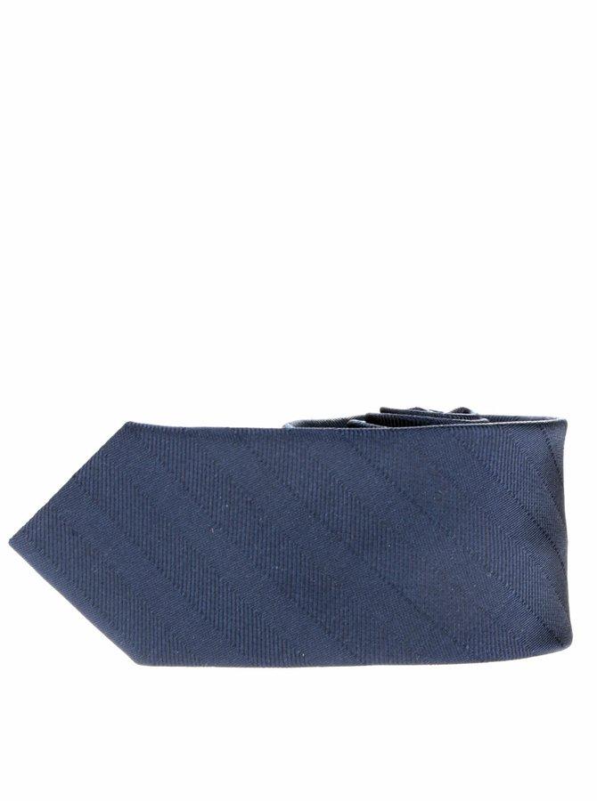Tmavě modrá klučičí kravata s jemným prošívaným vzorem name it Pisp