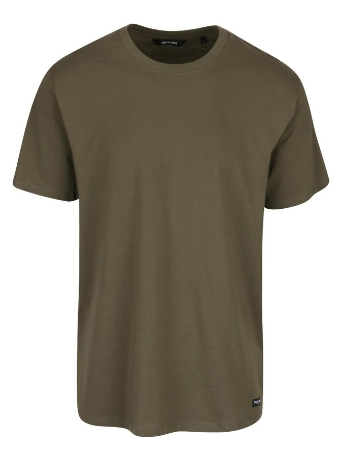 Tmavě zelené triko ONLY & SONS Eltonn