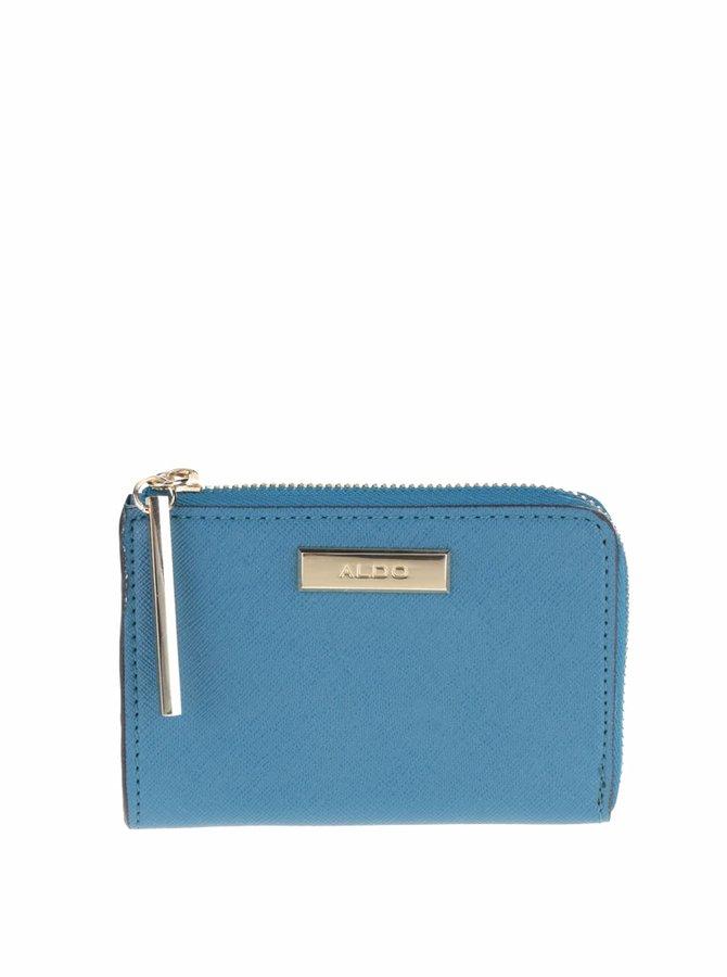 Modrá peněženka s detaily ve zlaté barvě ALDO Deeney