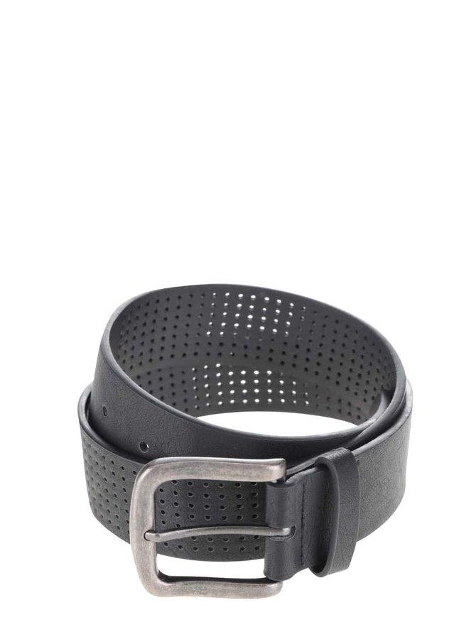 Černý koženkový pásek ONLY & SONS Cas