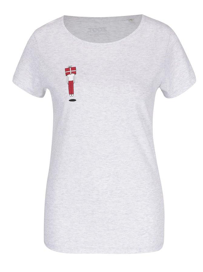 Světle šedé dámské tričko s potiskem ZOOT Originál Gift