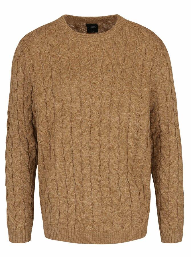 Béžový pletený sveter Burton Menswear London