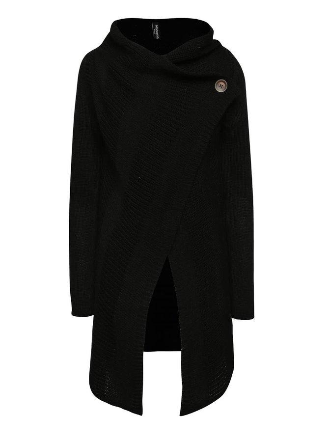 Černý cardigan s knoflíkem Madonna Katrina