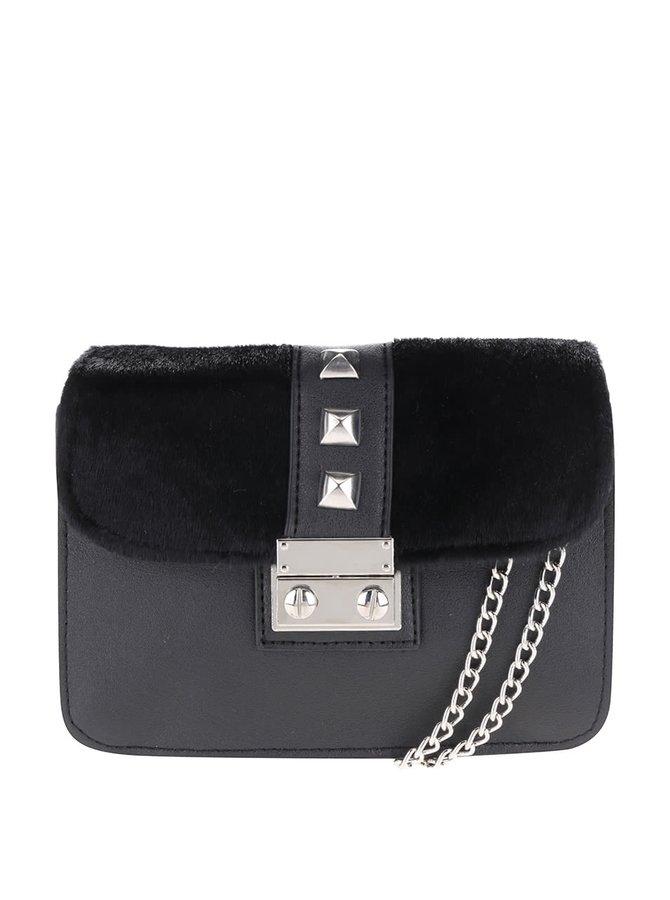 Černá malá crossbody kabelka s cvočky Pieces Diana