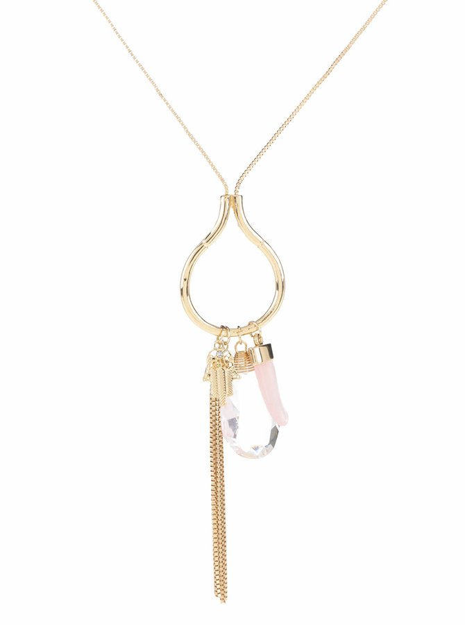 Colier auriu cu roz Madonna