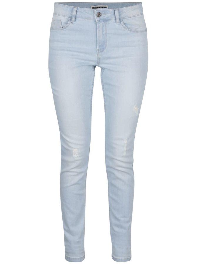 Jeanși slim fit albastru deschis cu aspect uzat Noisy May Lucy