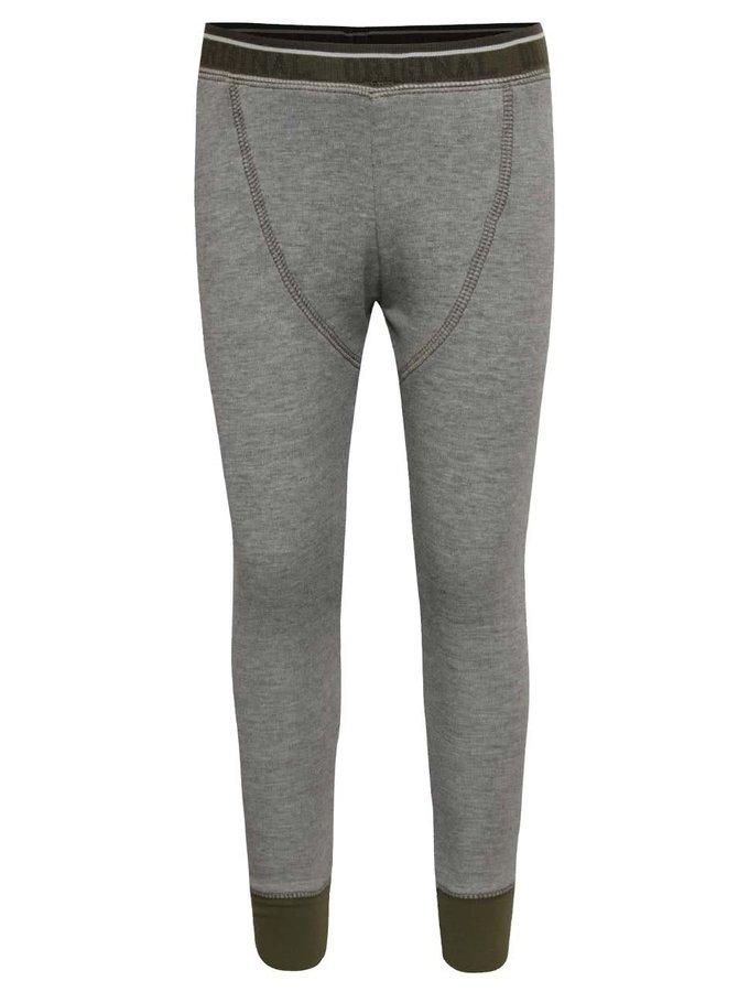 Pantaloni sport gri name it Varny cu detalii verzi și model discret pentru băieți