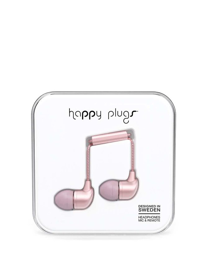 Růžová in-ear saint sluchátka Happy Plugs
