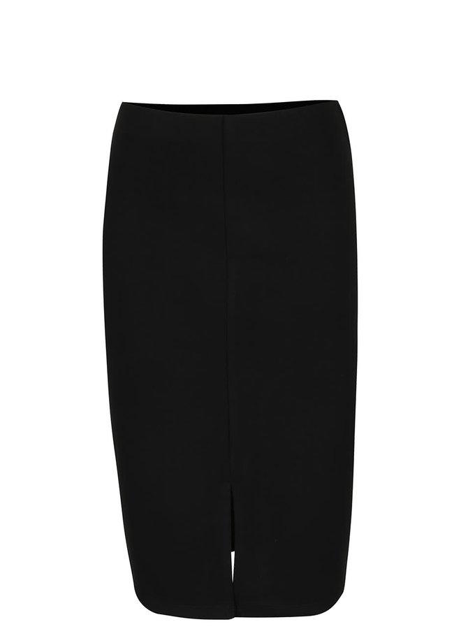 Černá sukně s rozparkem VERO MODA Audrey