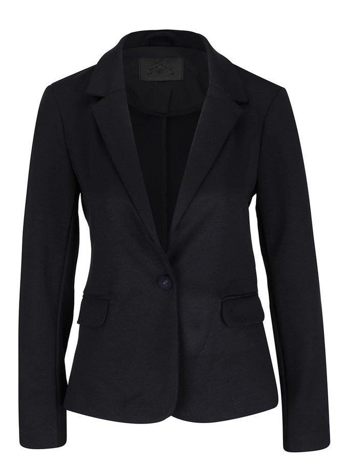 Tmavě modré sako s kapsami Vero Moda Cassy