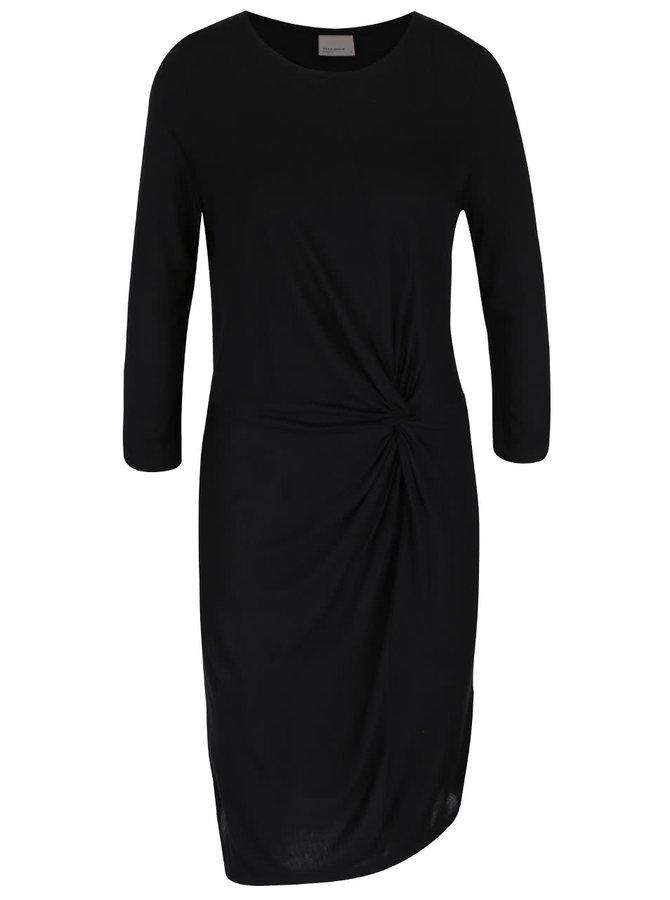 Rochie neagră cu mâneci trei sferturi VERO MODA Nula