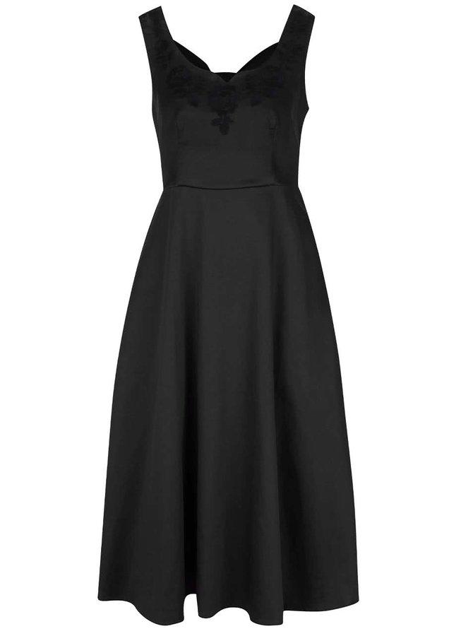 Černé šaty s průstřihy na zádech Dolly & Dotty