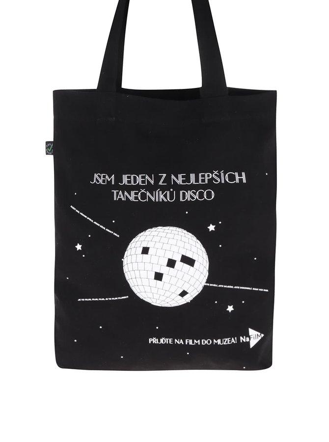 """""""Dobrá"""" černá plátěná taška NaFILM Kouř"""