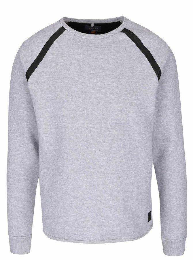 Bluză sport gri melanj cu detalii negre Blend