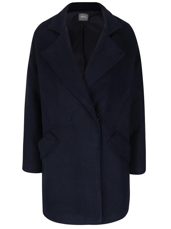 Tmavě modrý kabát s kapsami ZOOT
