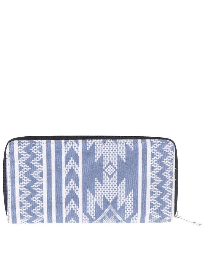 Bílo-modrá vzorovaná peněženka Haily´s Ethno