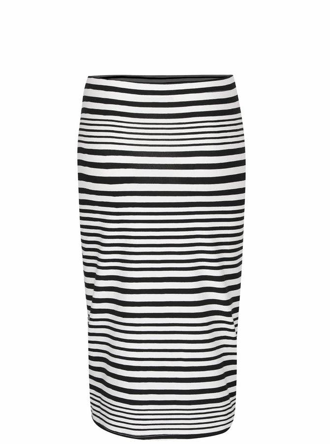 Černo-krémová pruhovaná sukně VERO MODA Jolisa