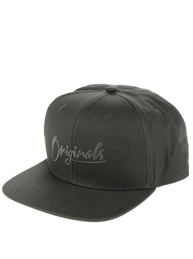 Șapcă verde închis cu broderie Jack & Jones Curt