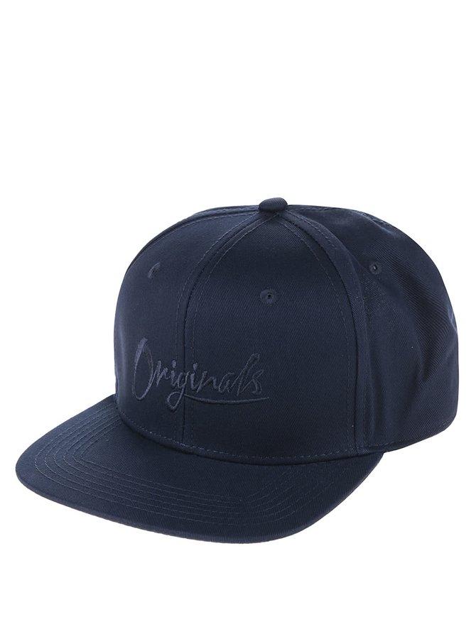 Șapcă albastru închis cu broderie Jack & Jones Curt