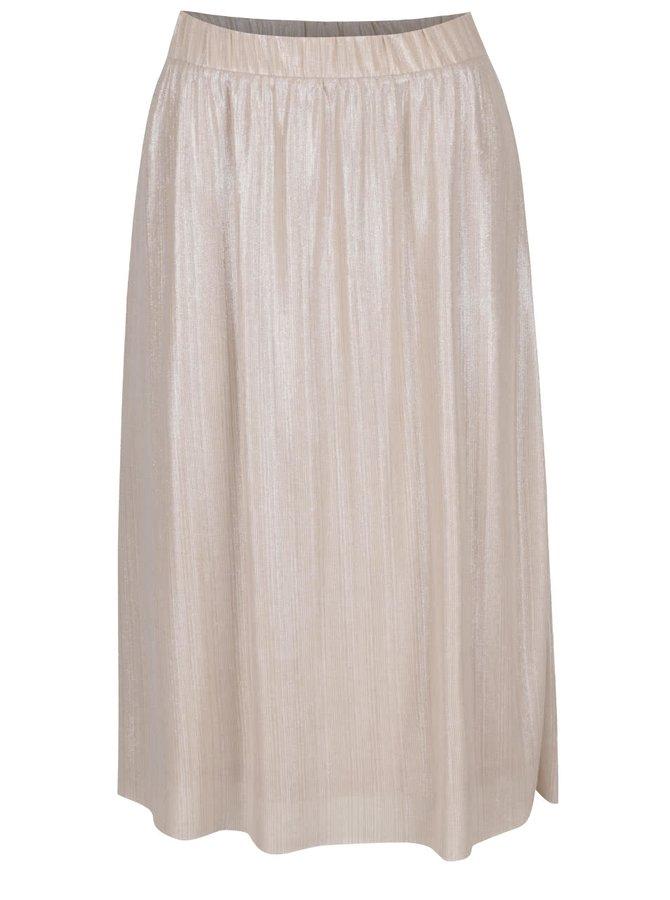 Krémová třpytivá sukně VILA Pol