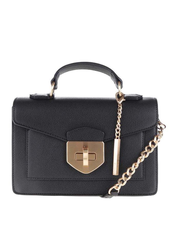 Černá menší crossbody kabelka s detaily ve zlaté barvě ALDO Astirwen