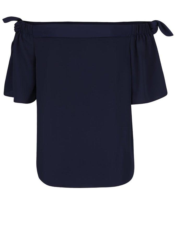 Tmavě modrý top s odhalenými rameny Dorothy Perkins
