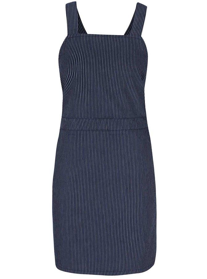 Tmavě modré pruhované šaty s lacly Dorothy Perkins