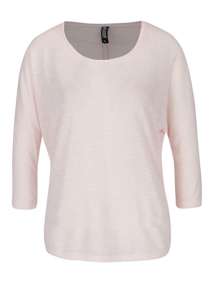 Růžový lehký svetr s 3/4 rukávy Haily´s Laureen