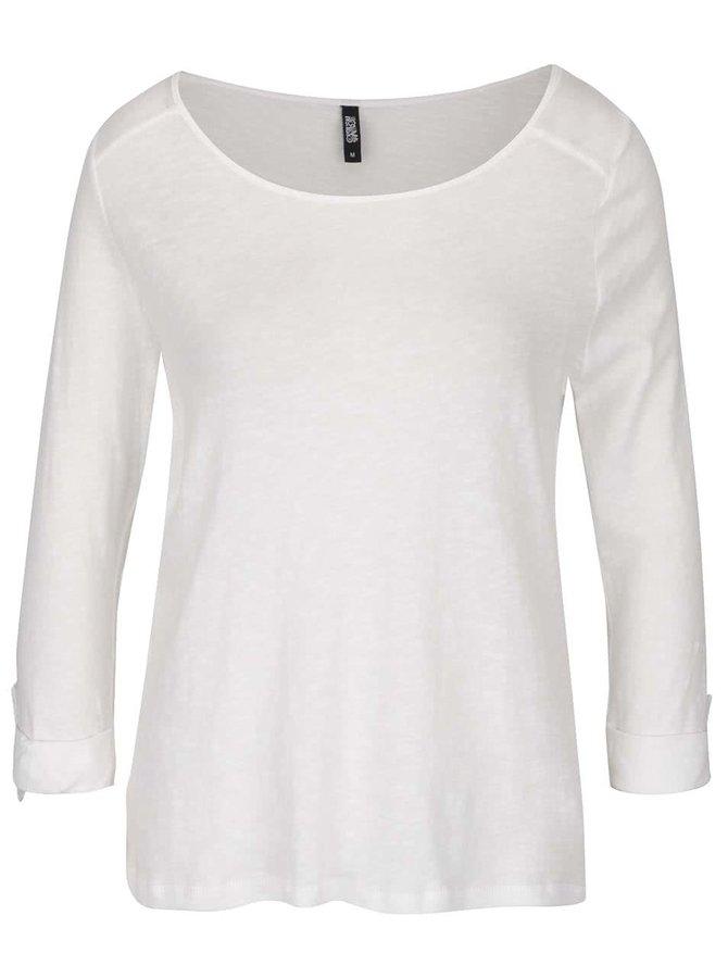 Krémové tričko s 3/4 rukávy Haily´s Ocie
