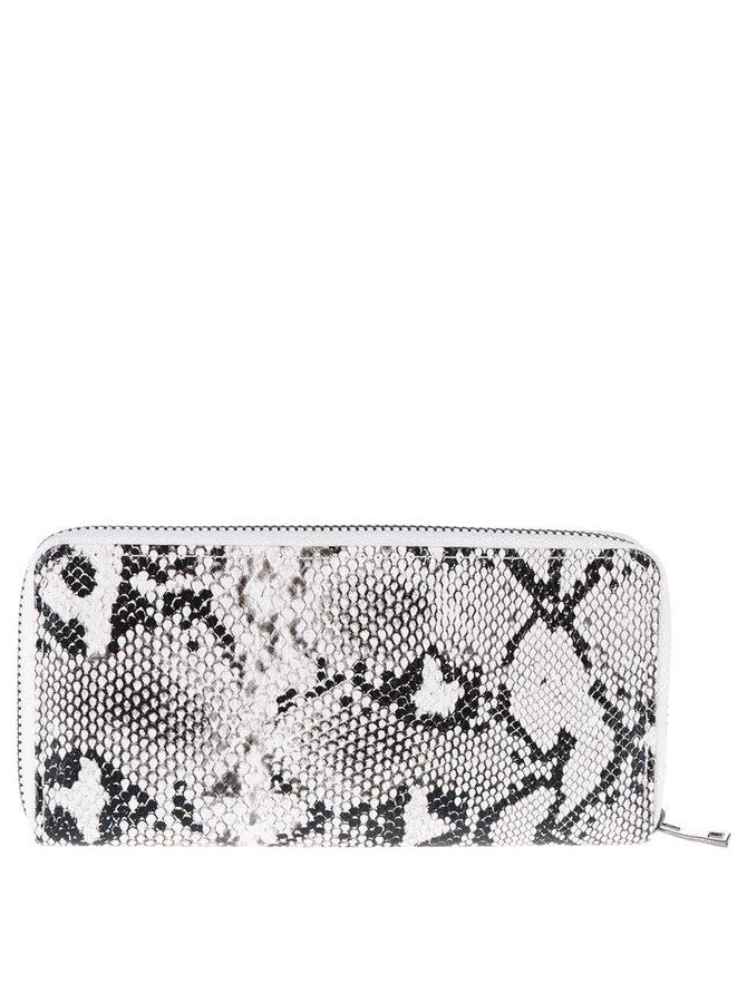 Černo-krémová peněženka s hadím vzorem Haily´s Kathi Snake