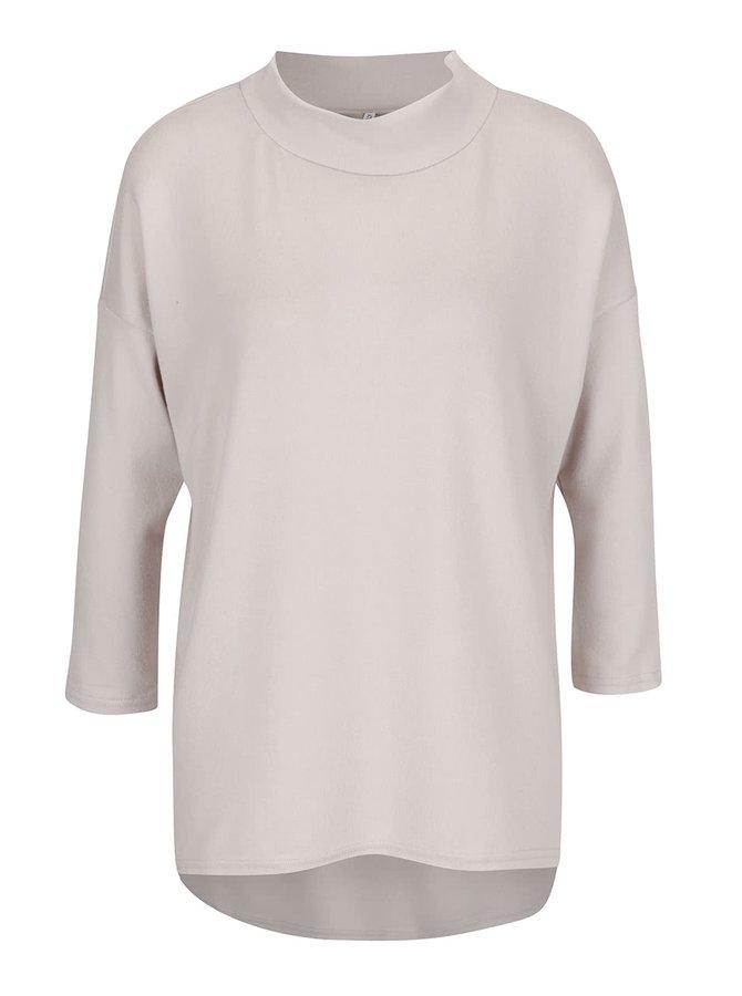 Béžové volnější tričko s nízkým rolákem ONLY Eli