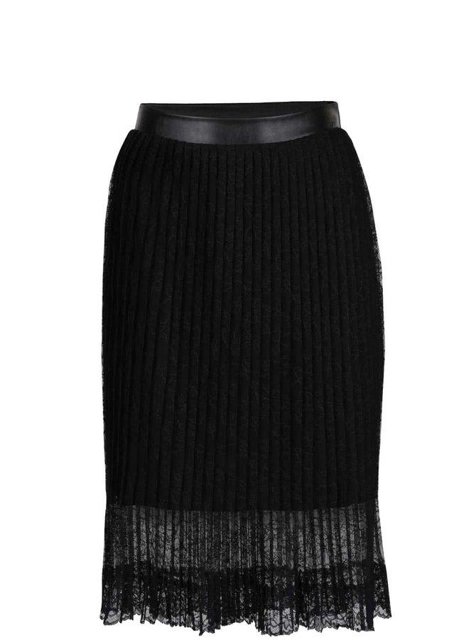 Černá krajková plisovaná sukně ONLY Julie