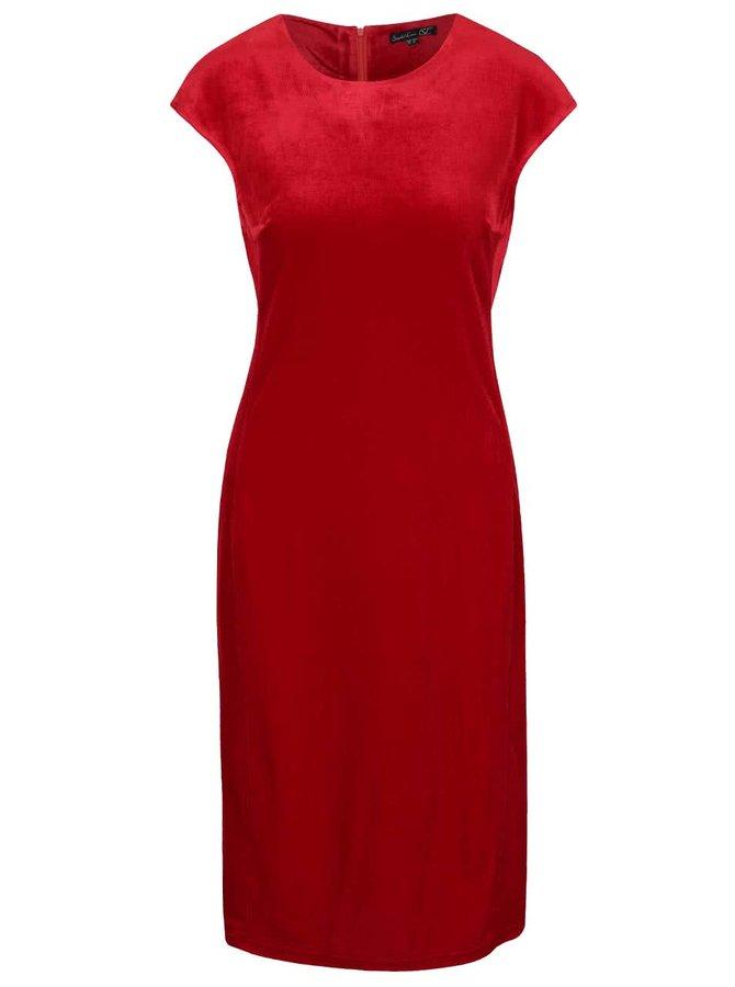 Červené zamatové šaty Smashed Lemon