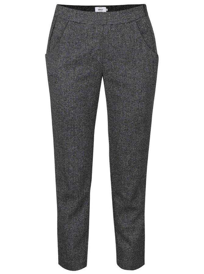 Tmavě šedé kalhoty ONLY Riona