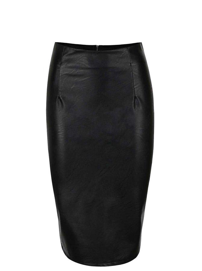 Čierna koženková sukňa ZOOT