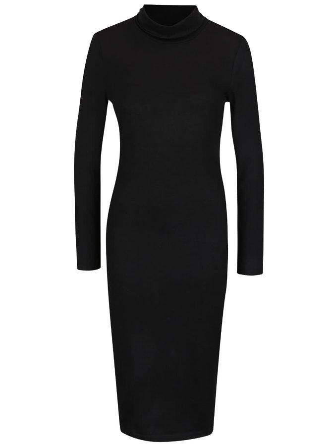 Černé svetrové šaty ONLY Eli