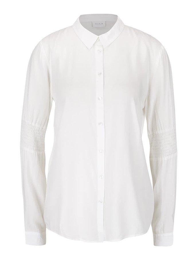 Krémová košile s detaily na rukávech VILA Smil