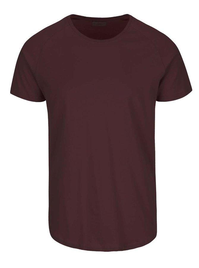 Vínové tričko s krátkym rukávom Selected Homme Curve