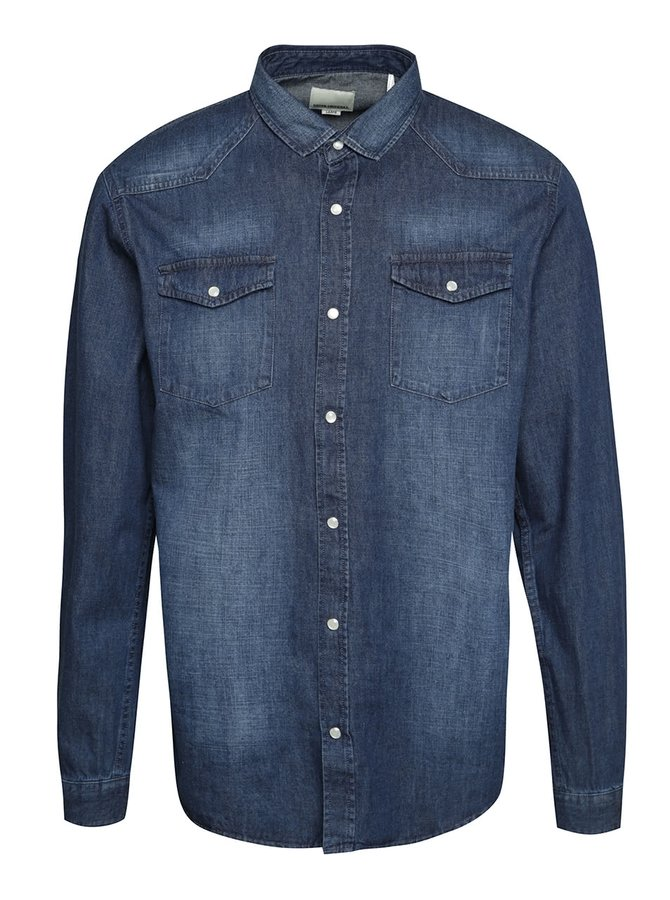 Modrá denimová košeľa Shine Original