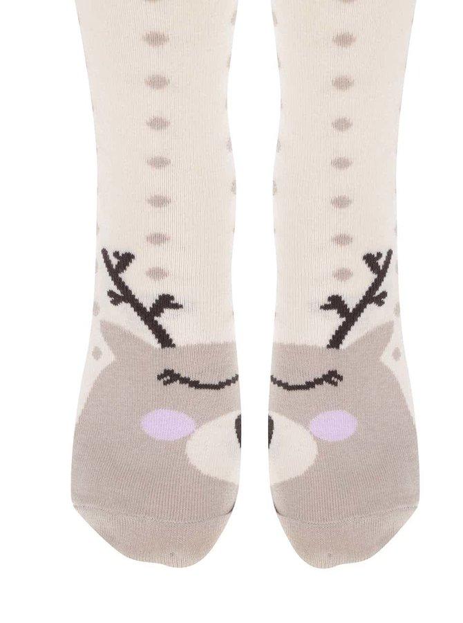 Béžové ponožky so sobmi ZOOT Originál