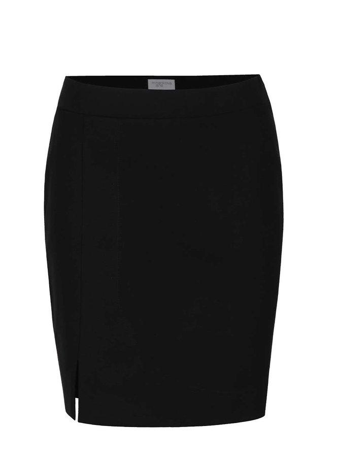 Černá sukně s rozparkem Jana Minaříková Original Myself