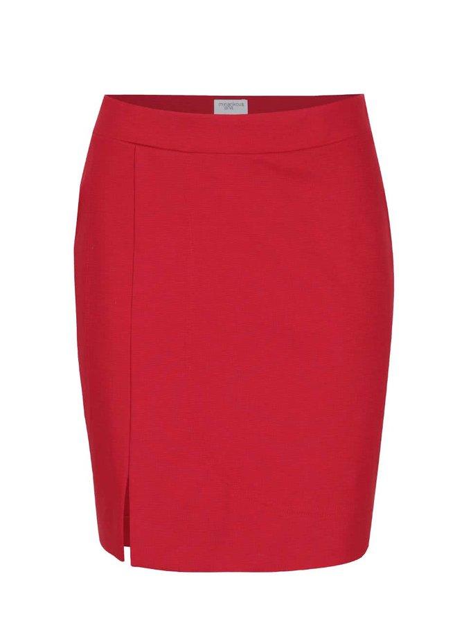 Červená sukně s rozparkem Jana Minaříková Original Myself