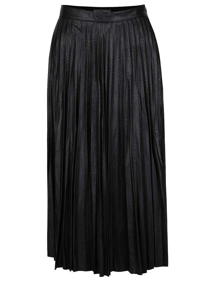 Černá plisovaná koženková sukně Darling Blair