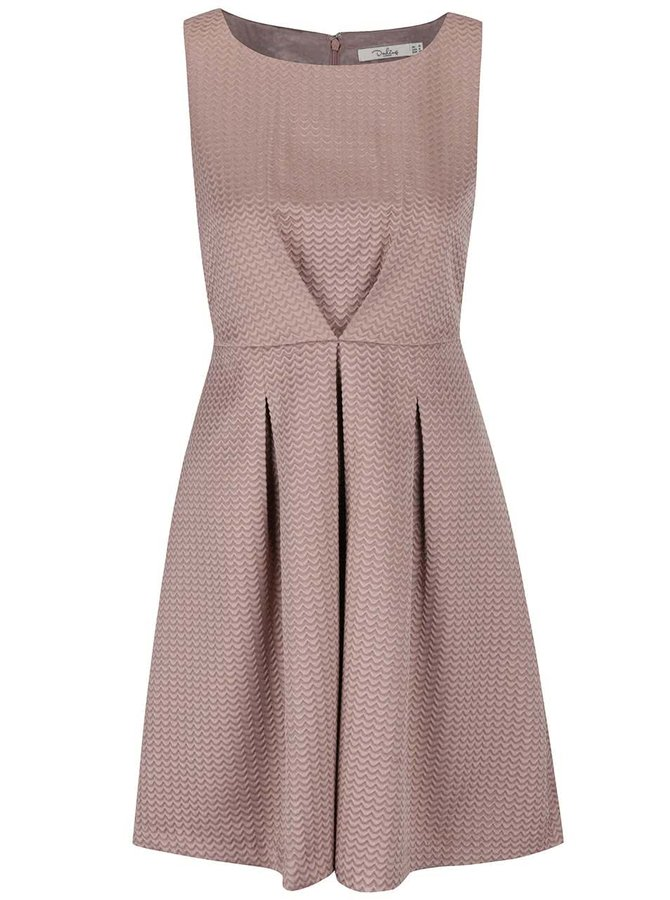 Béžovo-hnedé štrukturované šaty Darling Rosalind
