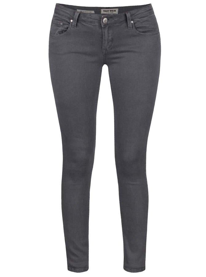 Šedé skinny džíny s nízkým pasem TALLY WEiJL