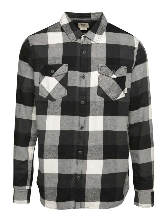 Černo-šedá pánská kostkovaná košile Vans Box