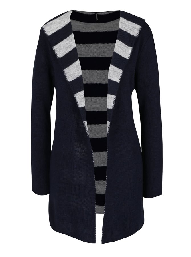 Tmavě modrý cardigan s kapucí Haily´s Sammy